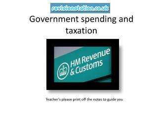 Government spending and taxation