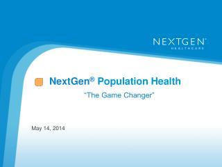 NextGen ® P opulation Health