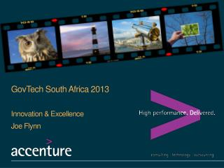 GovTech  South Africa 2013 Innovation & Excellence Joe Flynn