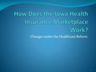How Does the Iowa Health Insurance Marketplace Work?