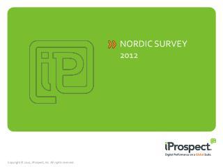 Nordic survey 2012