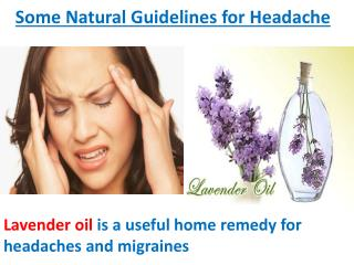 Some Natural Guidelines for Headache