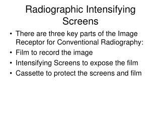 radiographic intensifying screens