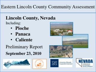 Eastern Lincoln County Community Assessment
