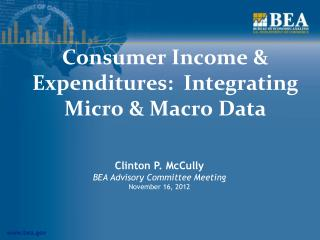 Consumer Income & Expenditures:  Integrating Micro & Macro Data