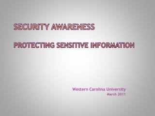 Security Awareness Protecting Sensitive Information