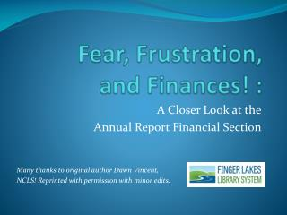 Fear,  Frustration,  and Finances! :