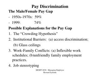 pay discrimination