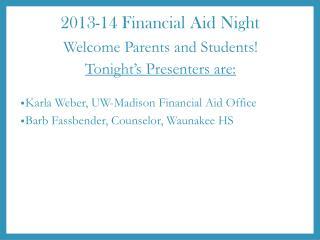 2013-14 Financial Aid Night