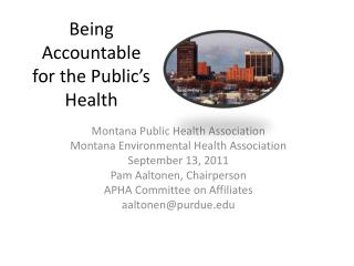 Being Accountable for the Public's Health