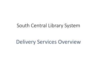 South Central Library System