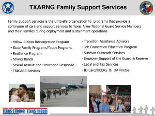TXARNG Family  Support Services