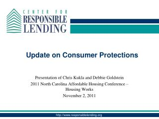 Update on Consumer Protections