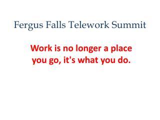 Fergus Falls Telework Summit