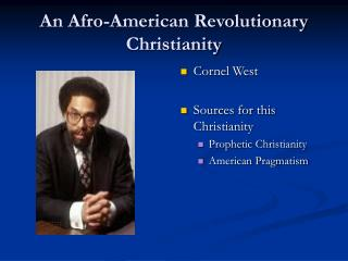 an afro-american revolutionary christianity