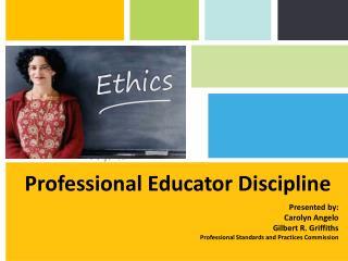 Professional Educator Discipline