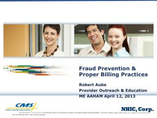 Fraud Prevention & Proper Billing Practices