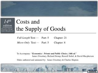 Costs and  the Supply of Goods