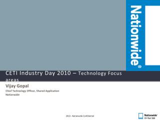 CETI Industry Day 2010 –  Technology Focus areas
