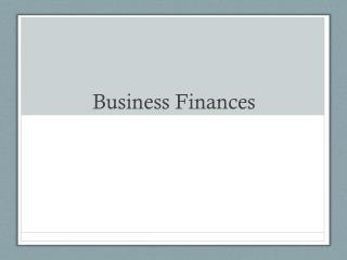 Business Finances
