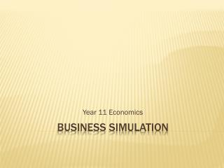 Business simulation
