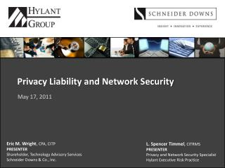 Privacy Liability and Network Security