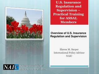 U.S. Insurance Regulation and Supervision – Practical Training for ASSAL Members