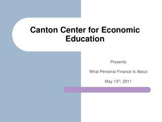 Canton Center for Economic Education