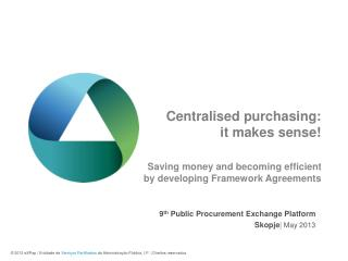 Centralised purchasing: it makes sense!