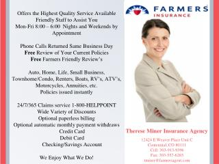 Therese Miner Insurance Agency