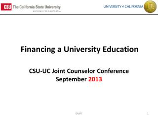 Financing a University Education