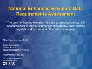 U.S. Department of the Interior U.S. Geological Survey