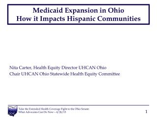 Medicaid Expansion in Ohio How it Impacts  Hispanic Communities