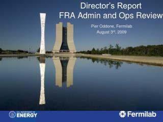 Director's Report  FRA Admin and Ops Review