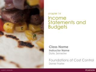 Income Statements and Budgets
