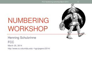 Numbering workshop
