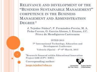 "Relevance and development of the ""Business Sustainable Management"" competence in the Business Management and Administra"