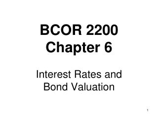 BCOR 2200 Chapter  6