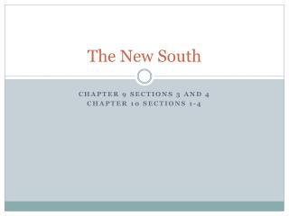 The New South