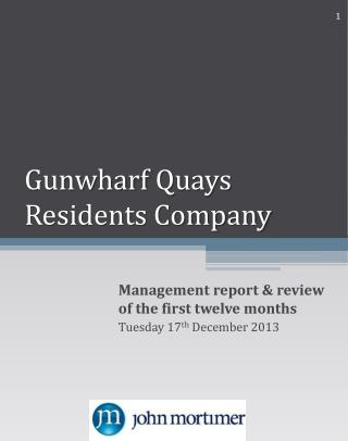 Gunwharf  Quays Residents Company