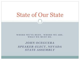 State of Our State
