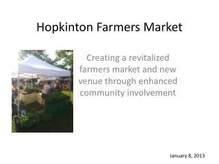 Hopkinton Farmers Market