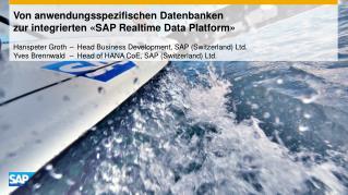 Von anwendungsspezifischen Datenbanken  zur  integrierten  «SAP  Realtime  Data Platform»