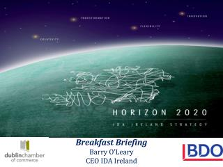 Breakfast Briefing Barry O'Leary CEO IDA Ireland