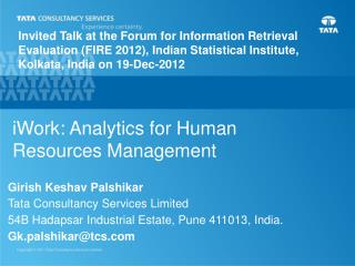 iWork : Analytics for Human Resources Management