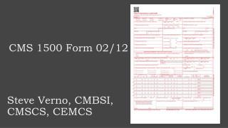 CMS 1500 Form 02/12