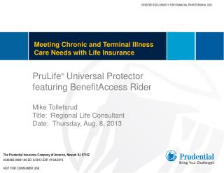 Meeting Chronic and Terminal Illness Care Needs with Life Insurance