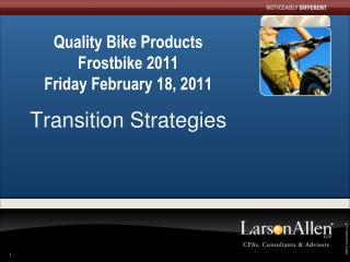 Quality Bike Products Frostbike  2011 Friday February 18, 2011