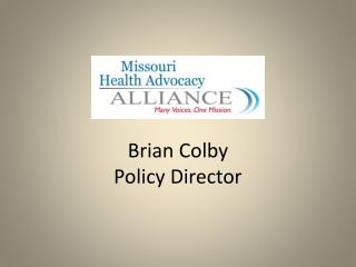 Brian Colby  Policy Director