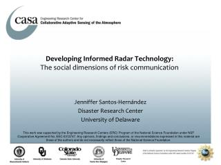 Jenniffer Santos-Hernández  Disaster Research Center  University of Delaware